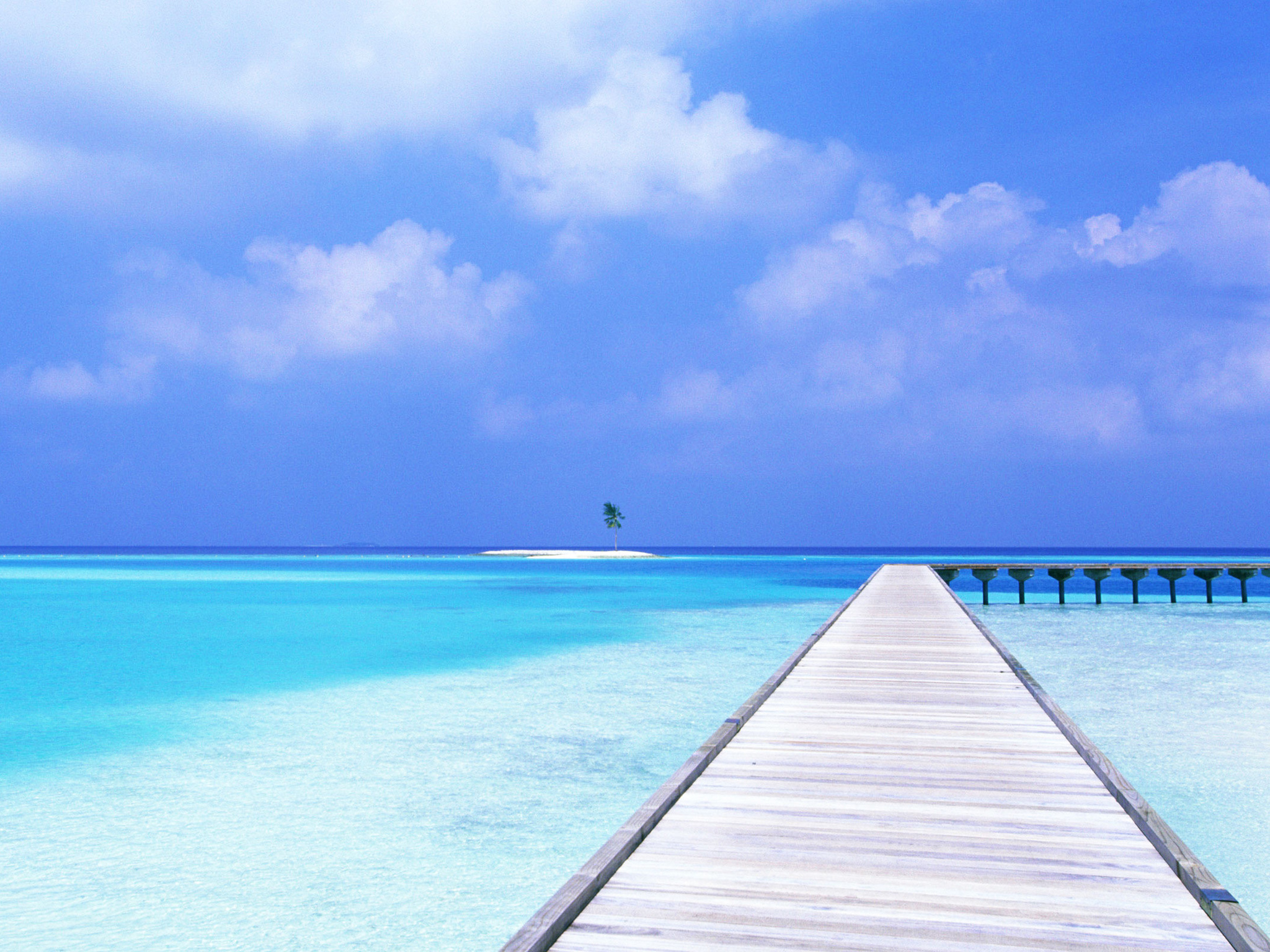 awesome crystal blue ocean wallpaper - beach wallpapers