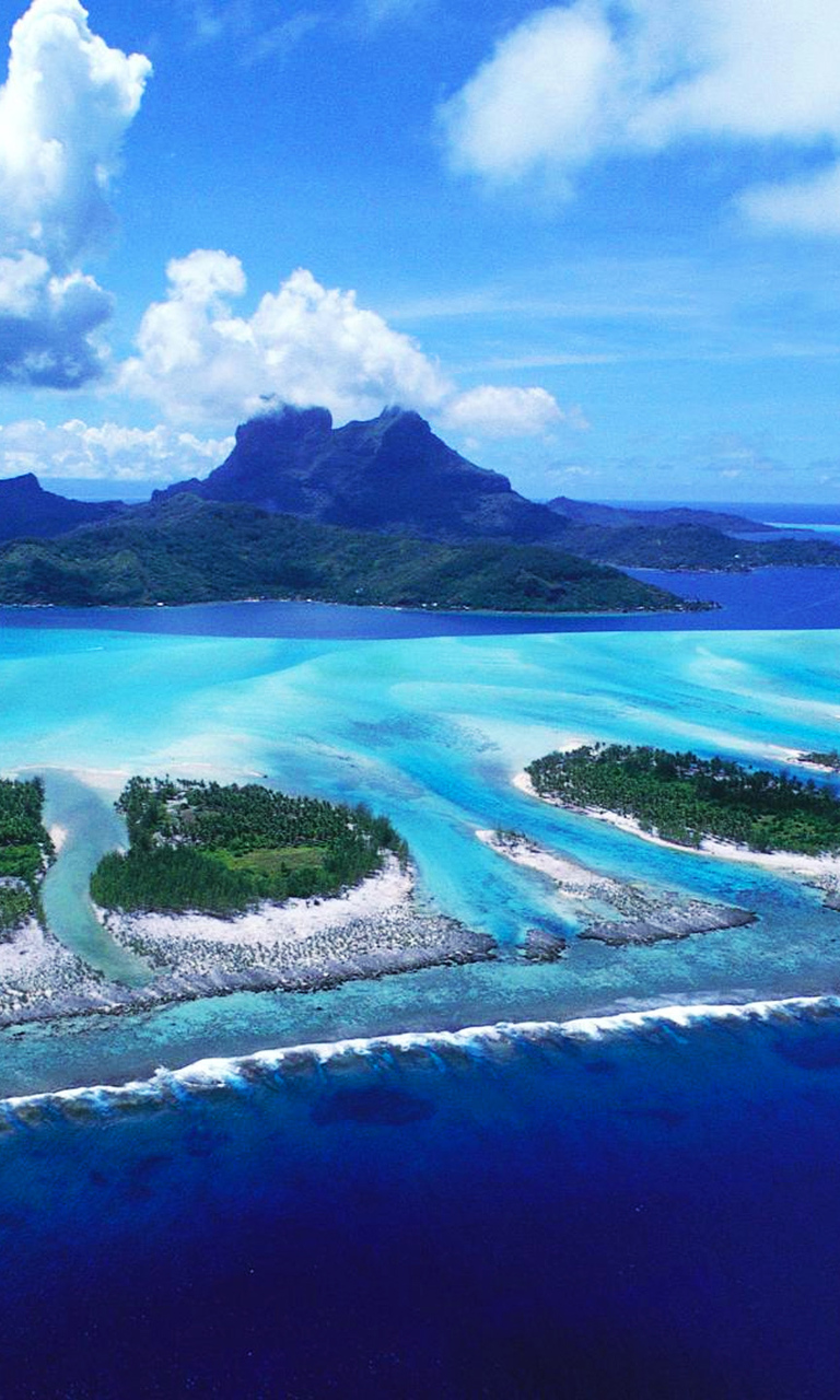 Awesome look on reefs of Bora Bora beach wallpaper - Beach ...