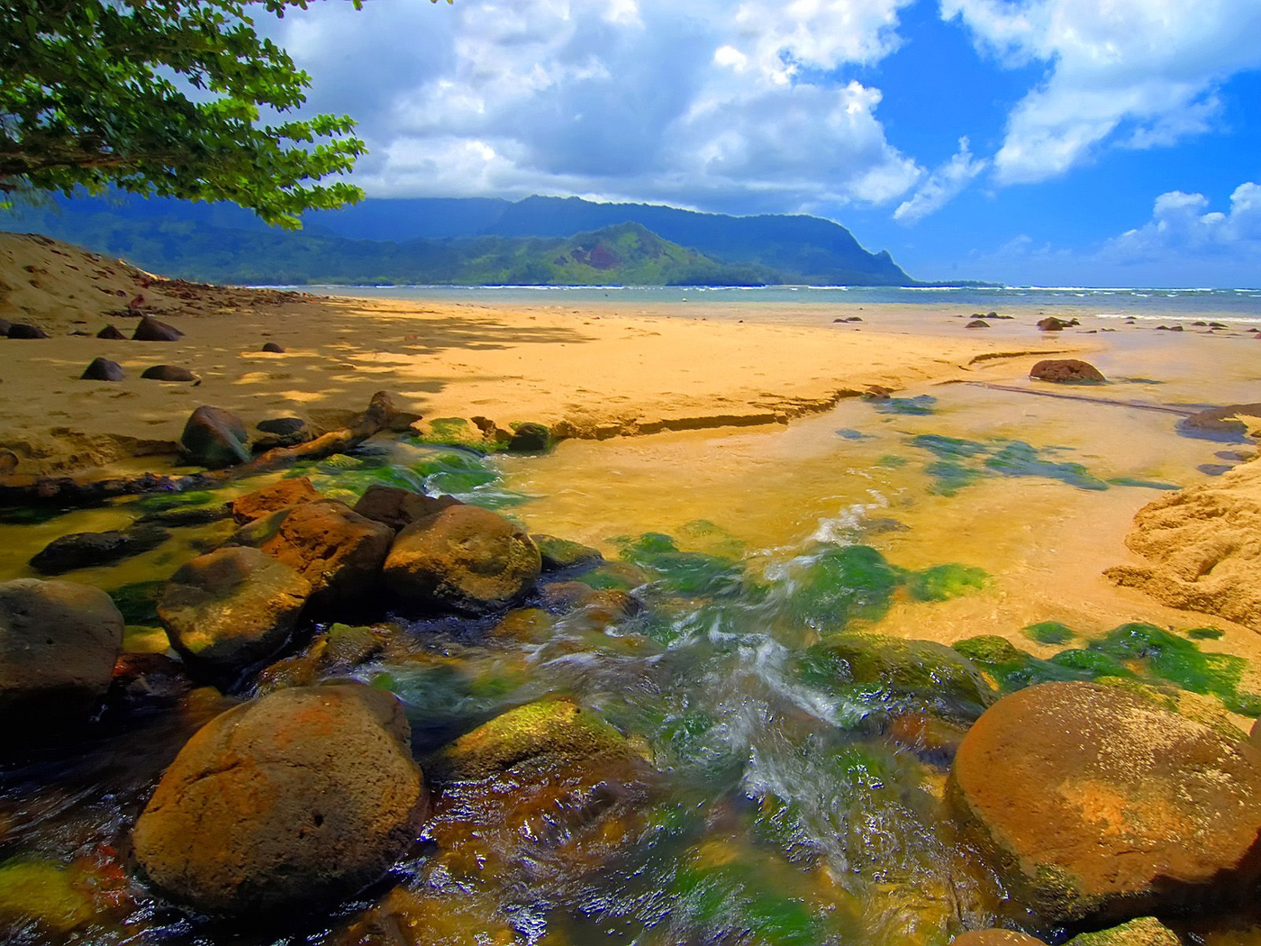 Beautiful Wallpaper Minecraft Beach - bali-hai-stream-kauai-hawaii-beach-wallpaper-1400x1050-222  Snapshot_651046.jpg