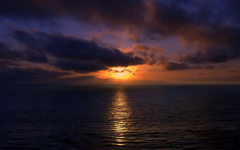 Beautiful Sunset Over Brazilian Beach Wallpaper Beach
