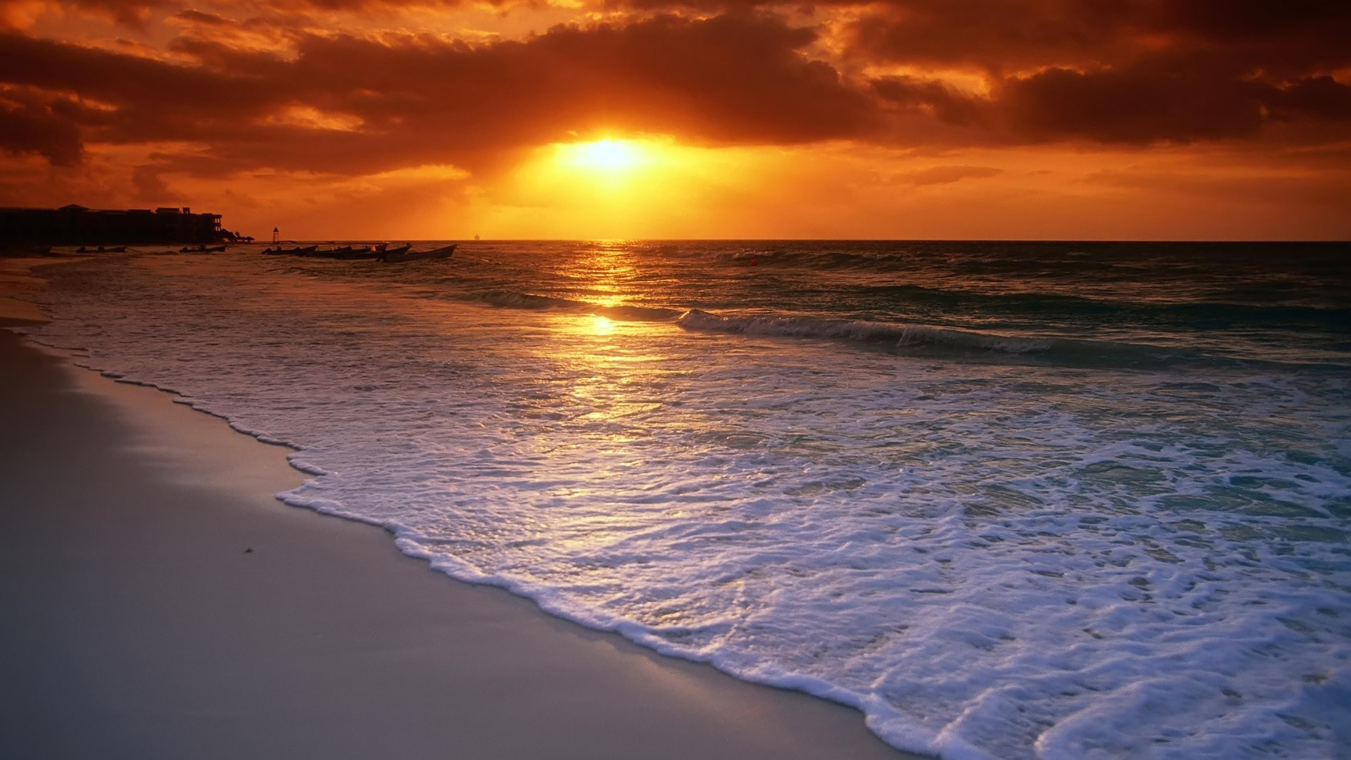 good evening ocean side beach background - beach wallpapers