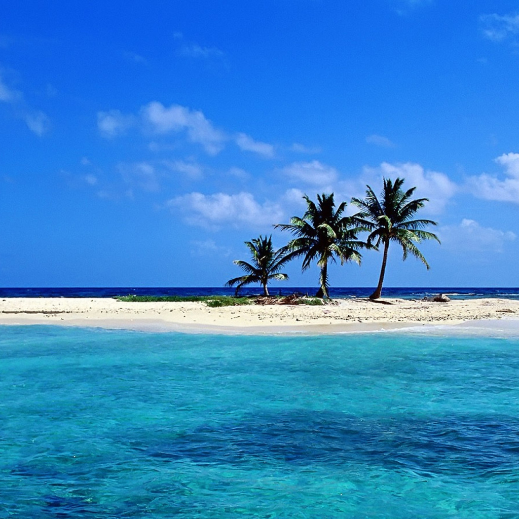 Sandy Beach: Lonely Sandy Beach Wallpaper