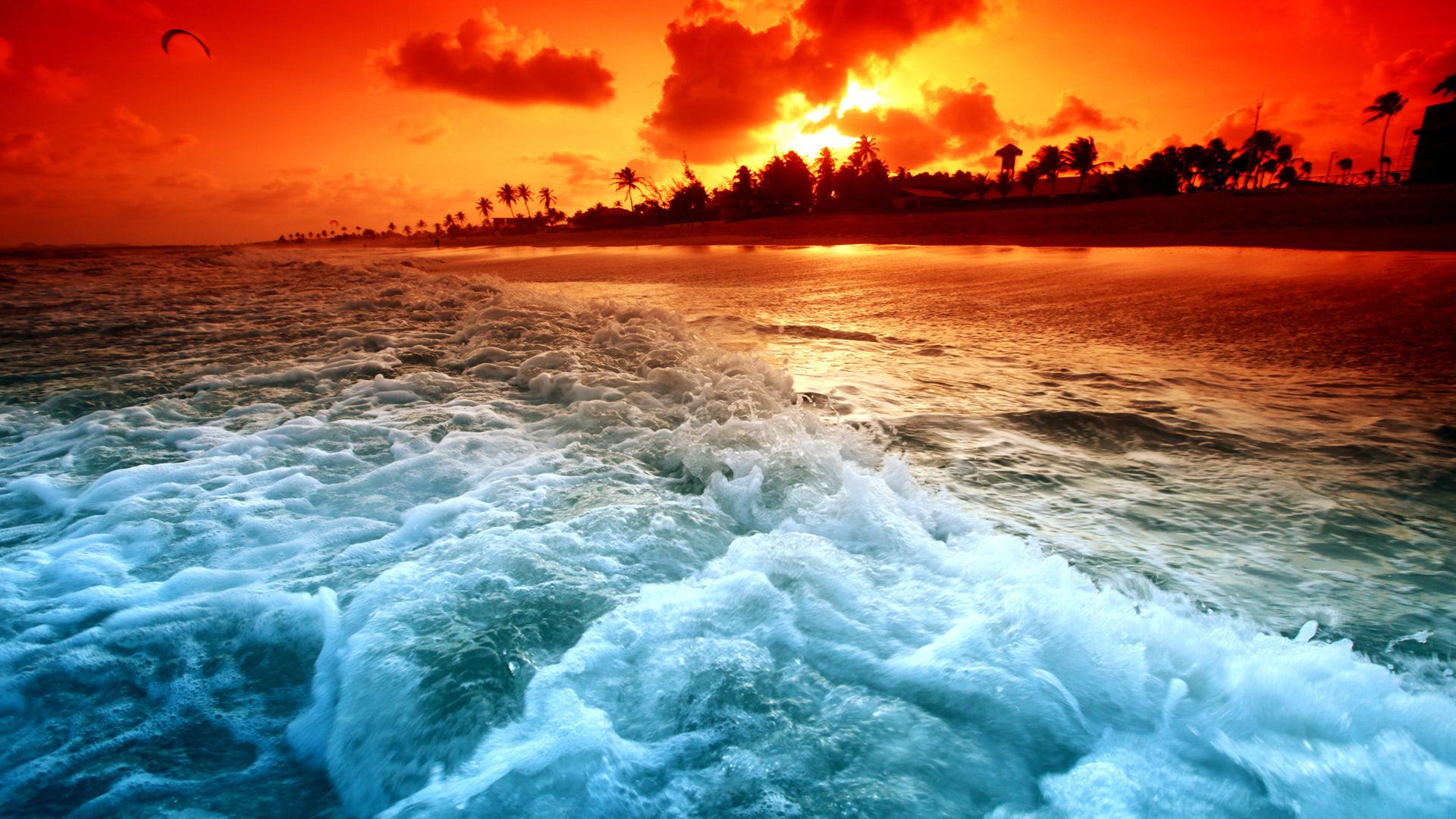 Magical Ocean Sunset Wallpaper