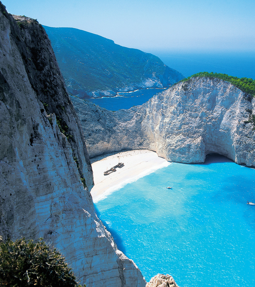 Wallpaper Place Images Wallpapers Nature 1920x1200: Shipwreck Beach Zakynthos, Greece