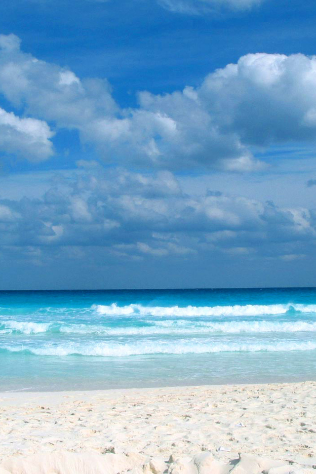 Stunning view from the caribbean beach background beach - Caribbean iphone wallpaper ...