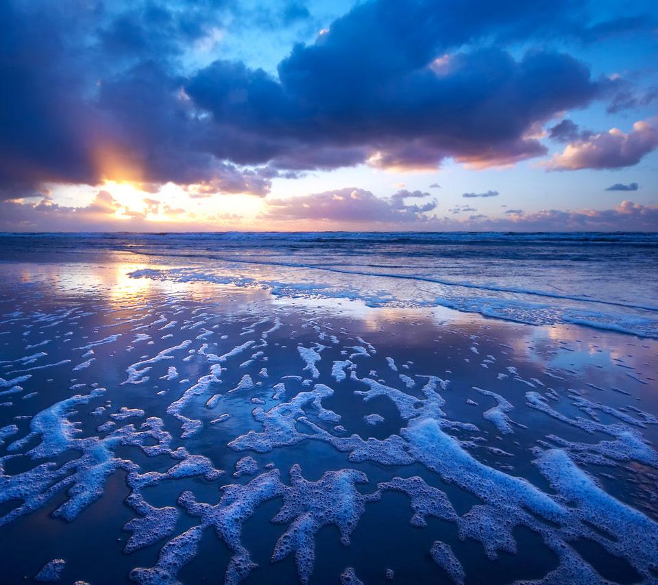 sunset waves wallpaper - beach wallpapers