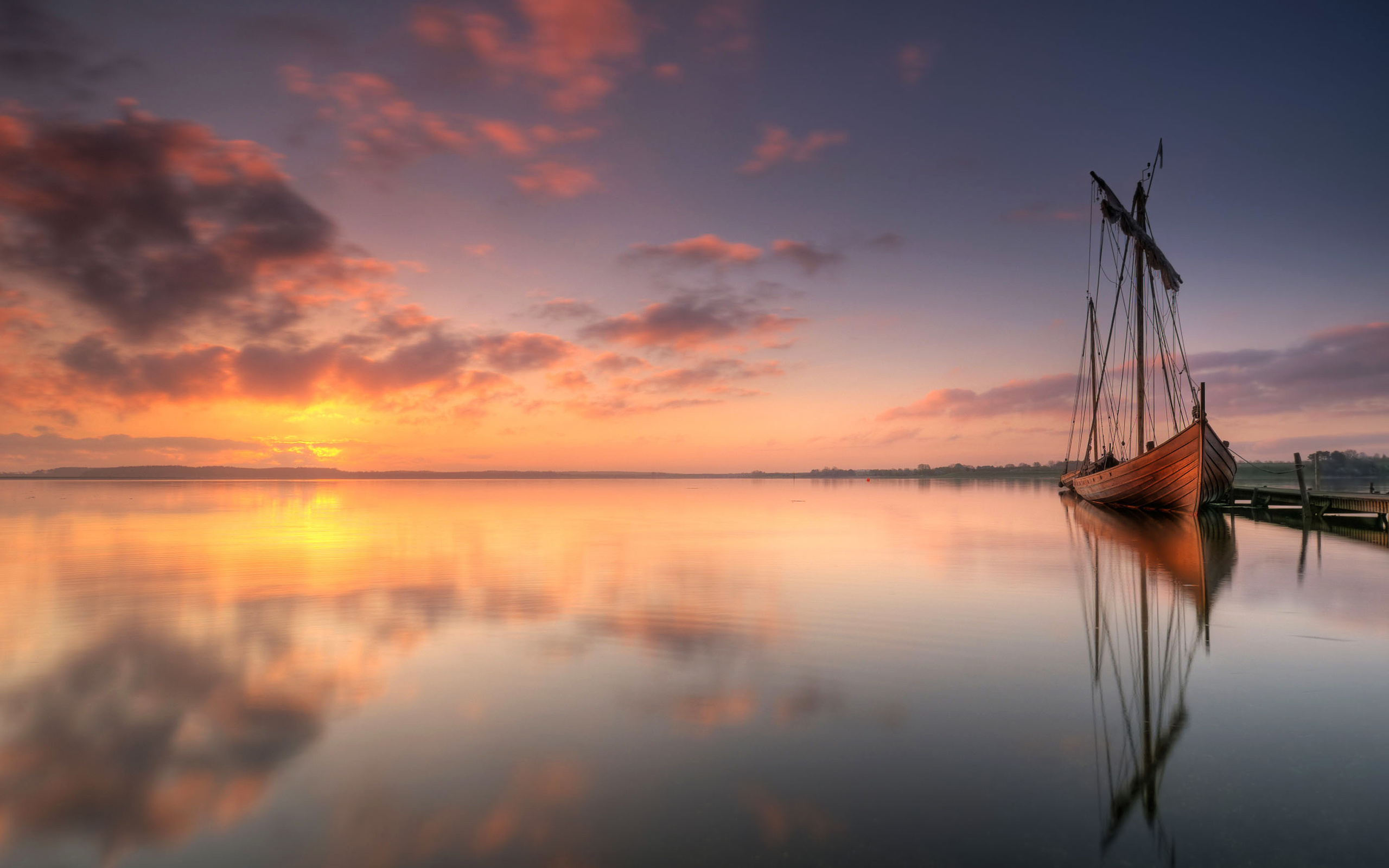 the wallpaper of beautiful viking ship in denmark - beach wallpapers
