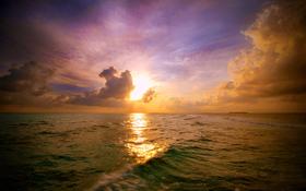Beach Background Of Maldivian Sunset