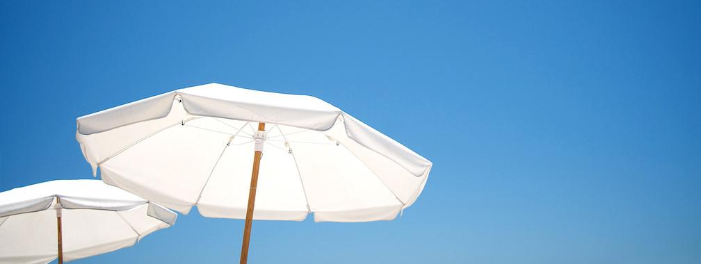 Miami beach umbrellas beach background