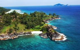 Silhouette island, Seychelles – wallpaper