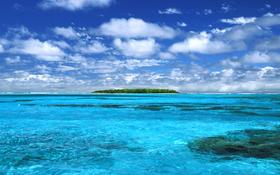 Stunning lonely island beach wallpaper