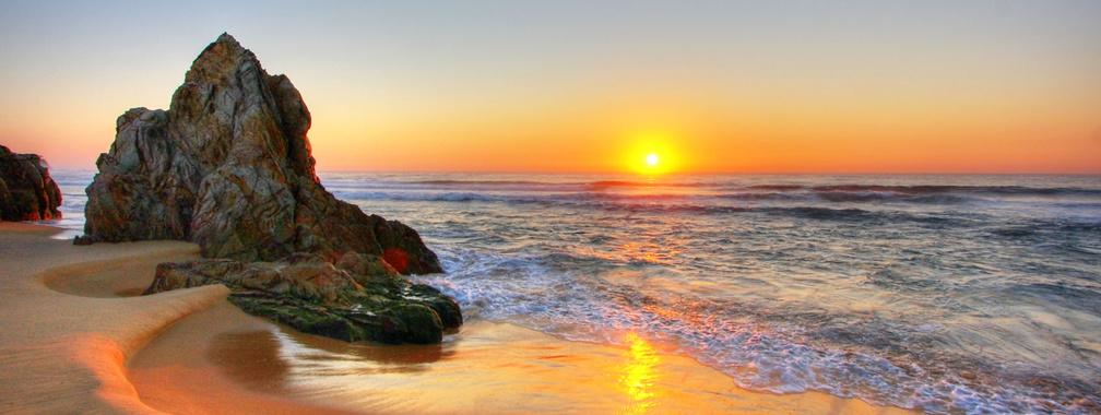 The inspiring view of sunrise on Tathra Beach, Australia