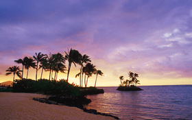 The inspiring wallpaper of the Wai'alae Beach, Honolulu, Hawaii