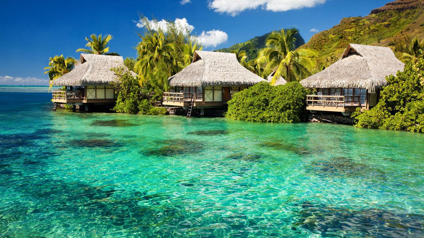 Tiki Huts Wallpaper Beach Wallpapers