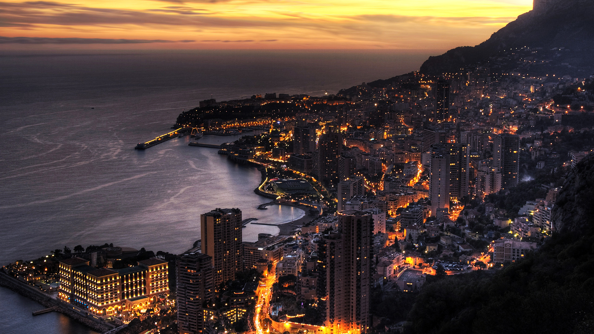 View From The Hill On Monaco Wallpaper