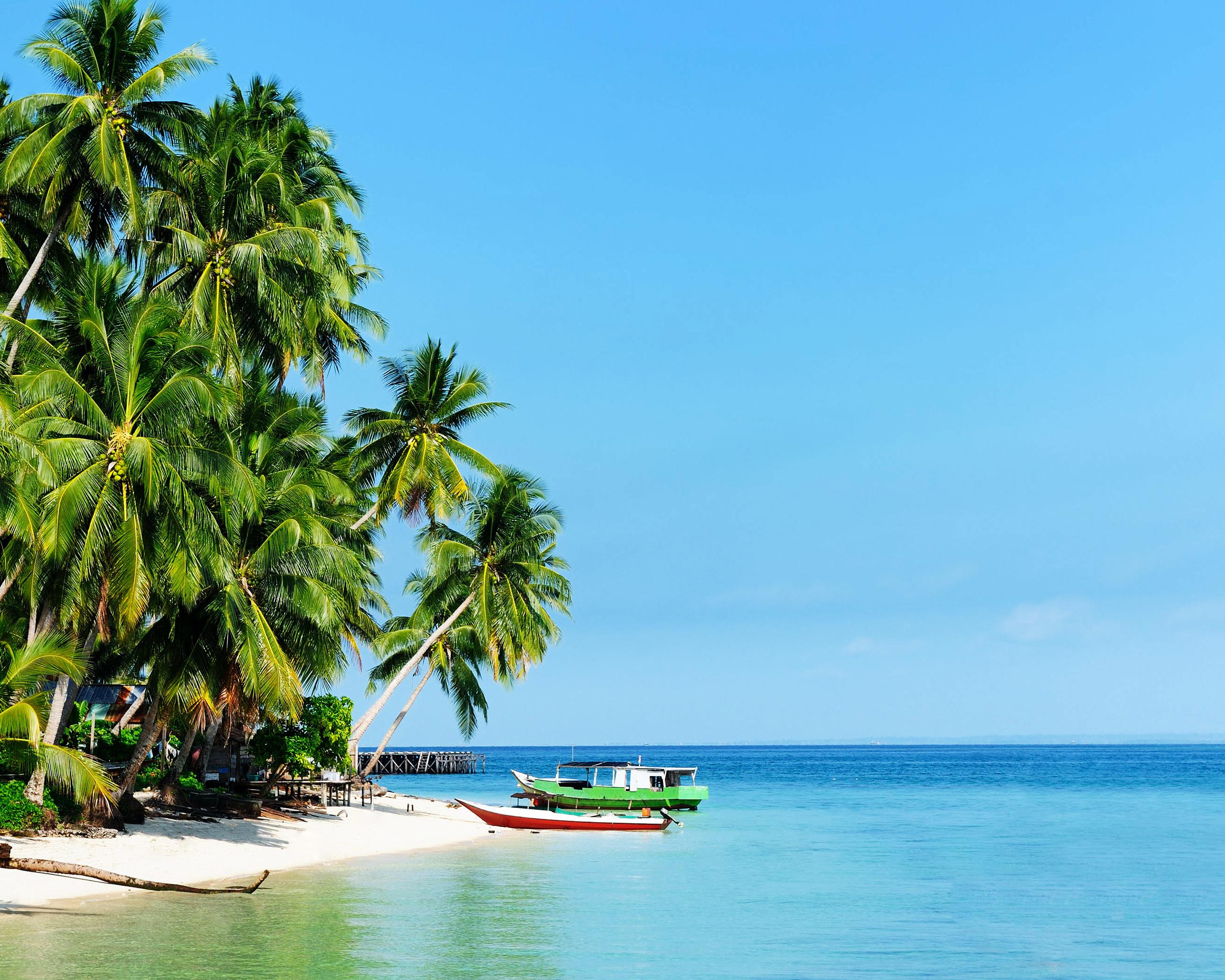 White Sandy Beach Of The Derawan Islands Wallpaper