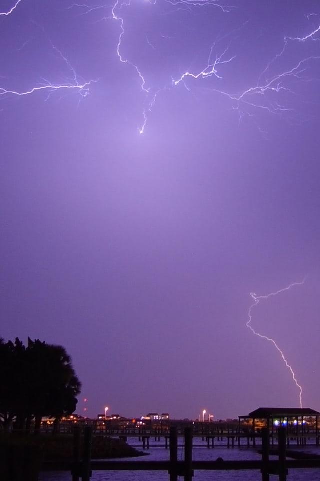 Lightning sky over the Daytona Beach in Florida wallpaper ...