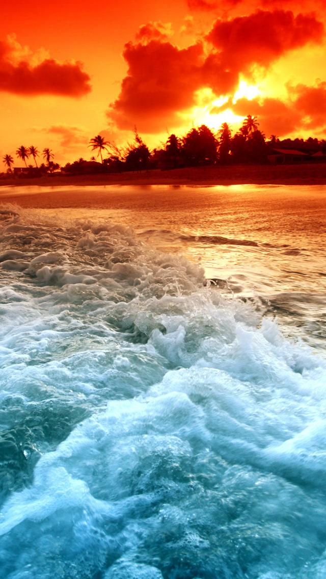 Magical Ocean Sunset Wallpaper Beach Wallpapers