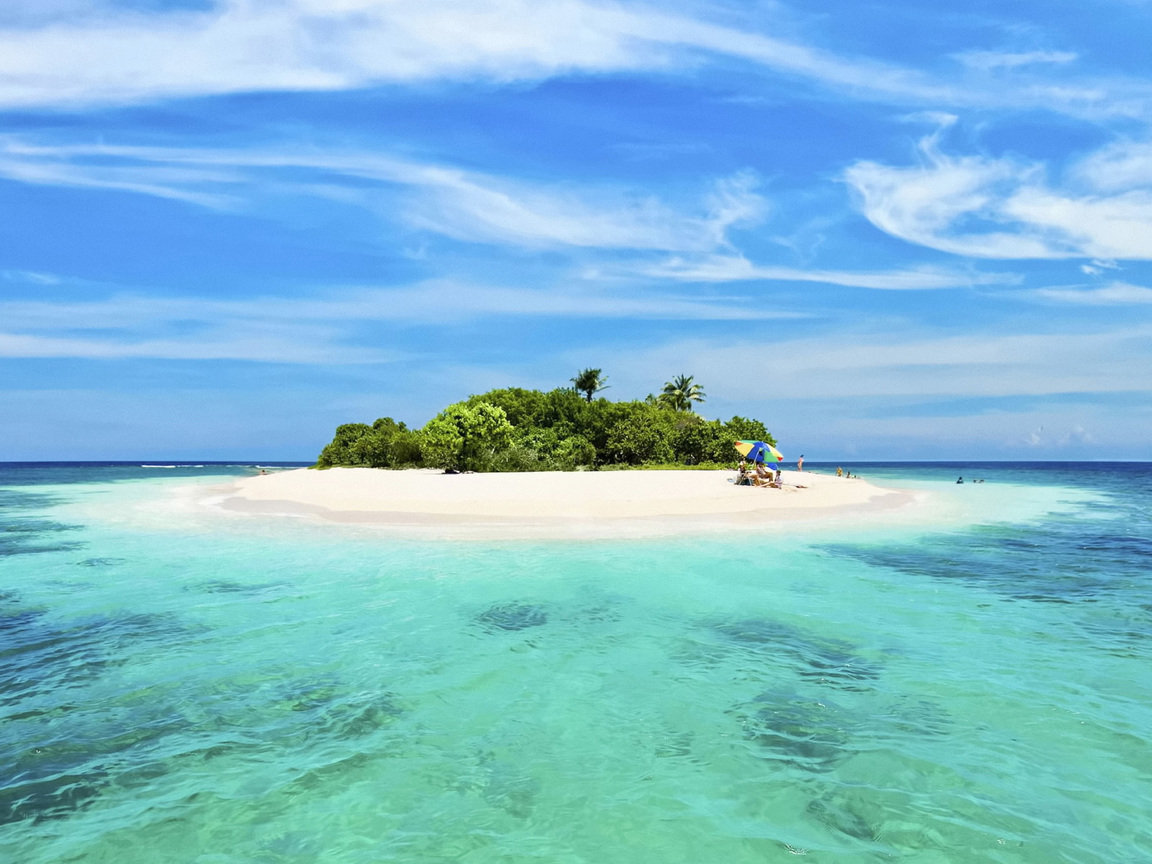 Sandy Island In The Middle Of The Ocean Wallpaper Beach Wallpapers