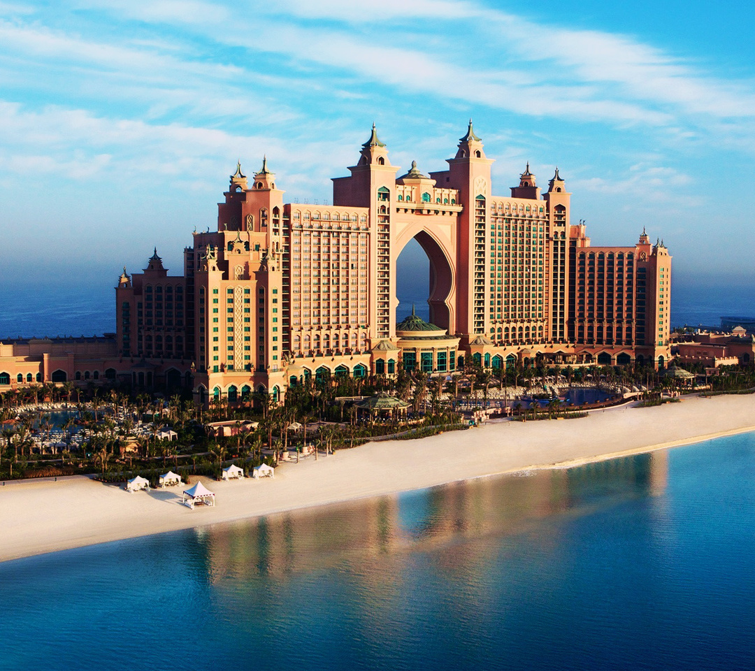 The Wallpaper Of Atlantis Majestic Dubai Hotel Situated On