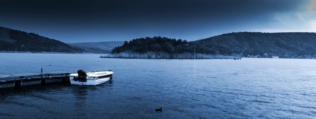 A small and fantastic lake Eymir in Ankara Province, Turkey