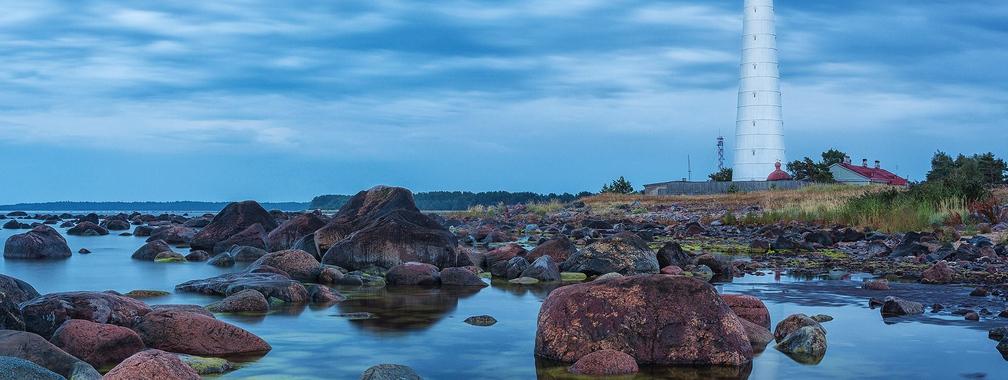 Amazing lighthouse on the beach of Hiiumaa island, Hiiu County, Estonia