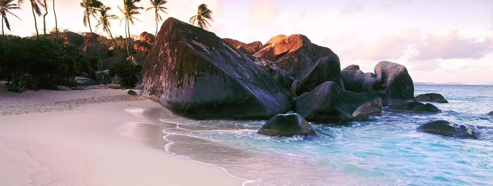 Astounding beach wallpaper of West Indies