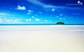 Awesome white sand beach