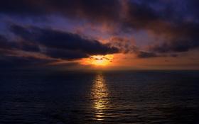 Beautiful sunset over Brazilian beach wallpaper