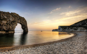 Breath-taking view of Durdle Door in Dorset in England