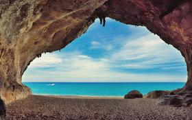Caves on the beach Cala Luna, Sardinia, Italy