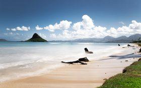Countless miles of peaceful aqua blue waters at Lanikai Beach