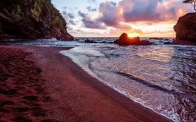 Dramatic seascape at Hana beach in Maui County, Hawaii, United States
