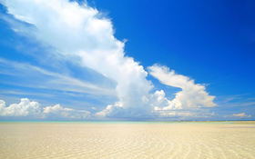 Endless Beach Shore Background
