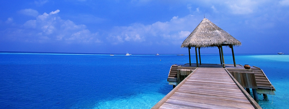 Fascinating view over the beach in Cancún, Mexico wallpaper