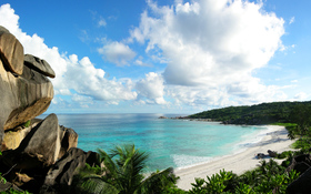 Grand Anse spectacular beach background