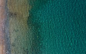 Green waters of a beach in Leros, Greece
