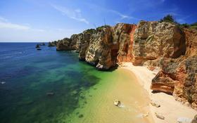 High beach cliffs wallpaper