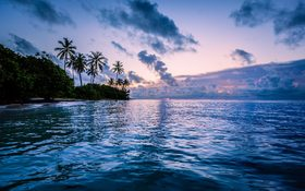 Magnificent sunrise in Sainte-Anne, Guadeloupe