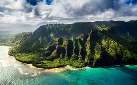 Majestic view at Kauai County, United States