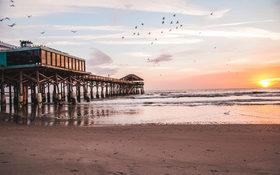 Morning views at Cocoa Beach, United States