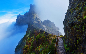 Mountain trail in Madeira, Portugal