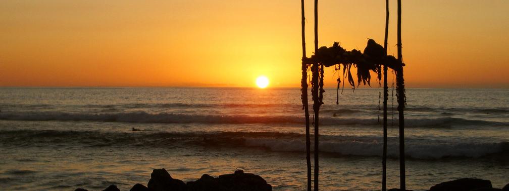 Orange sunset beach wallpaper