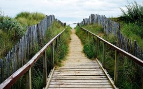 Path to the West Sands Beach in St Andrews, Scotland