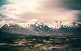 Preserved nature and beautiful wildlife in Loch Ossian and Rannoch Moor, Scotland