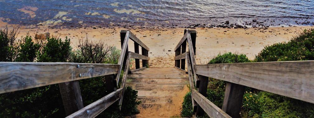 Relaxing atmosphere at Fishermans Beach, Australia