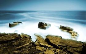 Rocky beach wallpaper