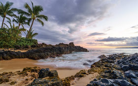 Secret beach at Maui, Hawaii, USA