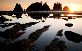 Shi Shi Beach, Olympic National Park, Washington wallpaper