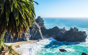 Stunning McWay Falls on the coast of Big Sur in central California